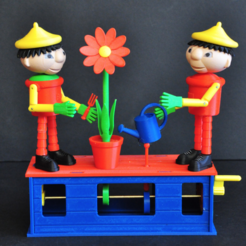 Download free 3D model Automata 1 Bill and Ben watering Flower, woodenclocks