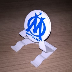 Support marseille.jpg Download STL file smartphone support Marseille • 3D printer object, curlydesign
