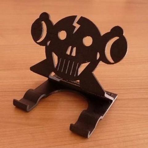 Download 3D printer files Skull smile support, curlydesign