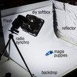Free Photographic set backdrop 3D model, piuLAB