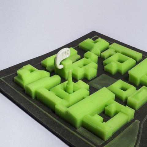 Free 3d printer designs Politecnico Map, piuLAB
