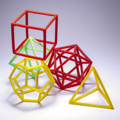 Free Platonic solids - frame set 3D model, piuLAB