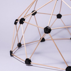 Download free STL file Geodesic dome • 3D printer object, piuLAB