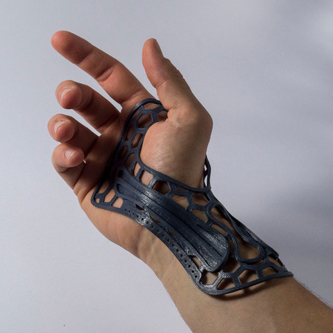 Free 3D printer file Wrist brace, piuLAB