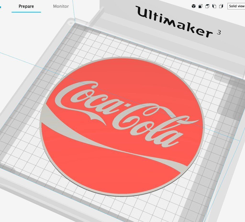 cafcac56e29697136288f08871556678_display_large.jpg Download free STL file Coca Cola sign Dual color • 3D printer template, B2TM