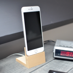Free 3d printer designs Elegant iPhone 6 (Plus) dock, B2TM
