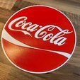 Download free 3D printer templates Coca Cola sign Dual color, B2TM