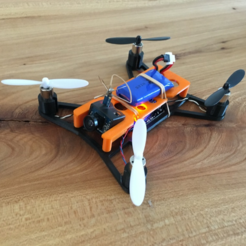Download free 3D printing models Easy removable top plate for microquad with room for Horizon Hobby micro FPV camera, B2TM