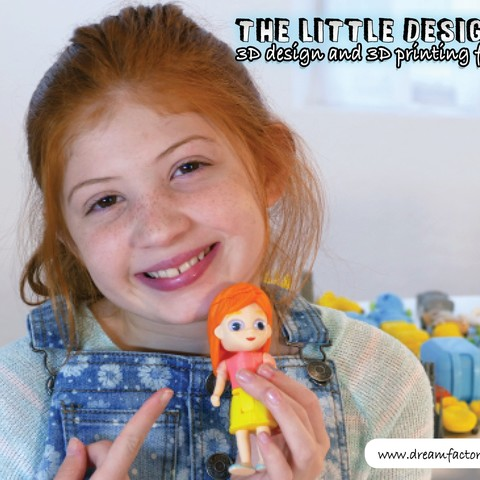 TLD Girl.jpg Download free STL file The Little Designer kids • 3D printer template, yanizo