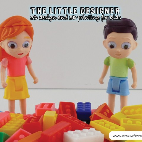 TLD kids 03.jpg Download free STL file The Little Designer kids • 3D printer template, yanizo