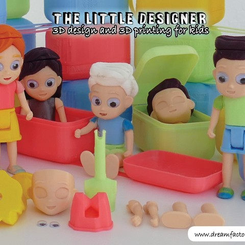 TLD kids.jpg Download free STL file The Little Designer kids • 3D printer template, yanizo