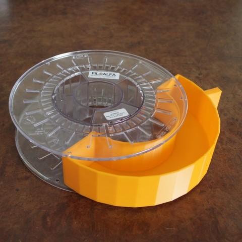 Archivos STL gratis Recogedor de bobinas recicladas, fred6b12