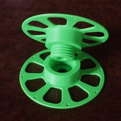 Plan 3D gratuit 3D-printable split filament spool with threaded joint (135 mm), fred6b12