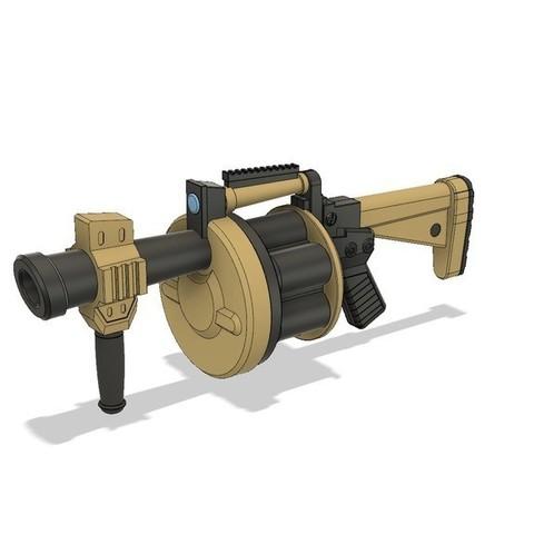 STL file FortNite // Grenade Launcher, 3DWORKBENCH