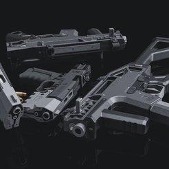 Télécharger plan imprimante 3D Cyberpunk 2077 Militech Saragota, 3DWORKBENCH