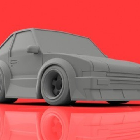 Free 3D print files Toyota AE86 // Driftmachie // Hachiroku, 3DWORKBENCH