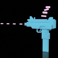 Download free 3D printer designs 16bit Uzi // Hotline Miami - ratatatatata!!!!, 3DWORKBENCH