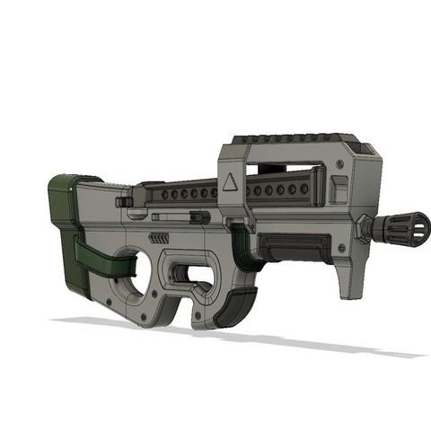 Download 3D print files FortNite Battle Royale // P90, 3DWORKBENCH