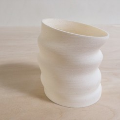 "3d printer designs ""Deflated"" Vessel, SteveWallin"