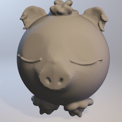 Free Cochonnelle (pig girl series minitoys) 3D printer file, Majin59