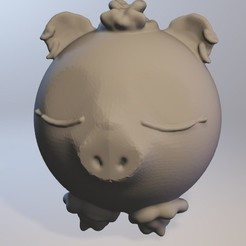 Download free 3D print files Cochonnelle (pig girl series minitoys), Majin59