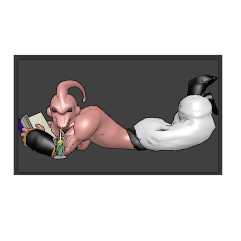 Download 3D printer model Majin BUU sipping at the temple of time...., Majin59