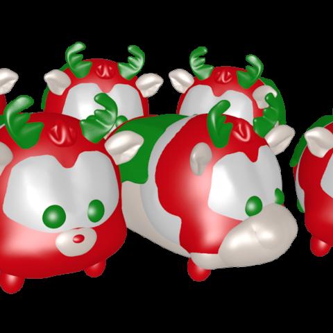 3D printer models reindeer meeting, Majin59