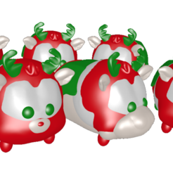 Download 3D printing designs reindeer meeting, Majin59