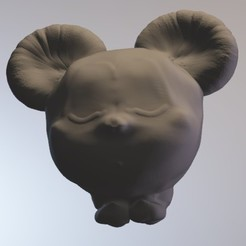 Download free 3D printing files mickeybull (mouse boy series minitoys), Majin59