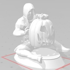 Download 3D printer designs HALLOWEEN ZOMBIE WALKER PUMPKIN WALKER, Majin59