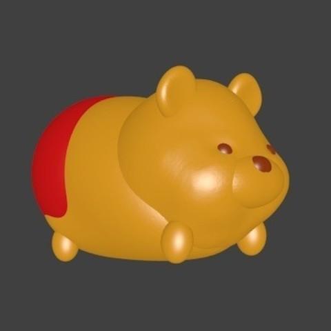 STL file Winnie the Pooh, Majin59