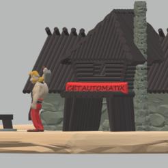 SCENE DE PRES CETAU.png Télécharger fichier STL Diorama, scène de vie Cétautomatix, son épouse et sa maison • Modèle pour imprimante 3D, Majin59