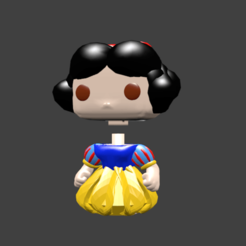 bl neige pop.png Download STL file WHITE SNOW CINDERELLA BELL BELL DASIY ELENA D AVALOR • 3D printer model, Majin59