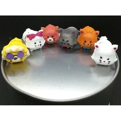 Download 3D printing designs Tsum Tsum my way: The Aristocats (6 figures), Majin59