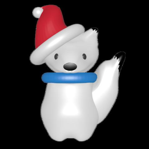 STL snow fox., Majin59