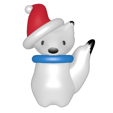Download 3D printing files snow fox., Majin59