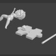 3D printing model Bamby, swimmer, Majin59