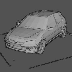 106 noir.jpg Download STL file peugeot 106 • Model to 3D print, Majin59