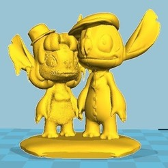3D printer models Couple Stitch, Majin59