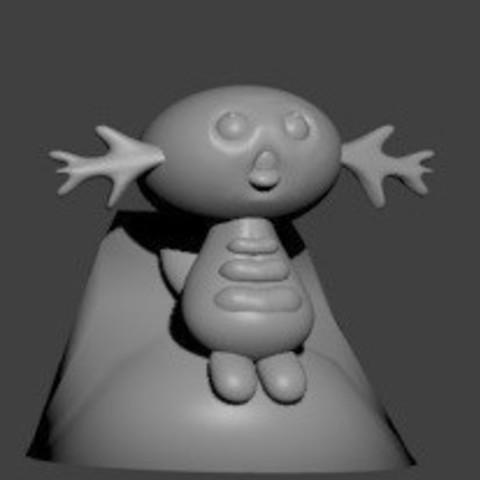 pion axoloto blanc.jpg Download STL file axoloto • Template to 3D print, Majin59
