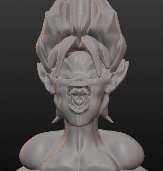 sayen.jpg Download STL file Super Sayen (Sangoku) • 3D printing template, Majin59