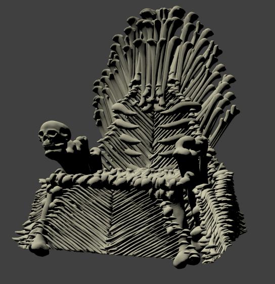 trone d os.png Download STL file Bone Throne • Model to 3D print, Majin59