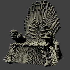 trone d os.png Download STL file Bone Throne • Model to 3D print, Majin59