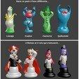 Download 3D printer designs Chess set / chess original pokemon in my way 32 pieces, Majin59