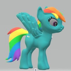 Download 3D printing models Rainbow dash, Majin59