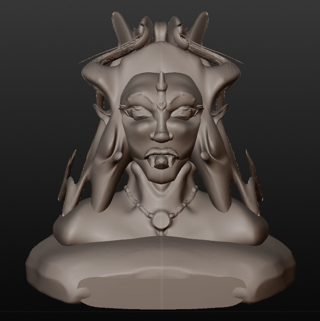 vampire elfique.jpg Download STL file elven vampire (series of fantastic busts) • 3D printing object, Majin59