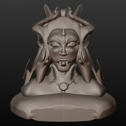 vampire elfique.jpg Download STL file elven vampire (series of fantastic busts) • 3D printing object, Majin59