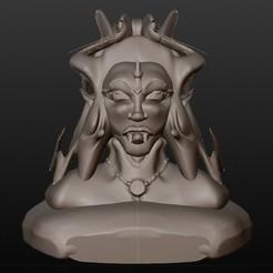 STL files elven vampire (fantastic busts series), Majin59