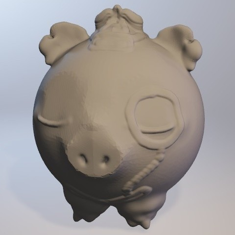 Free 3D printer file Cochonou (pig boy series minitoys), Majin59