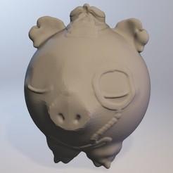 Free 3D model Cochonou (pig boy series minitoys), Majin59